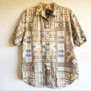 Woolrich southwest print shirt sleeve shirt